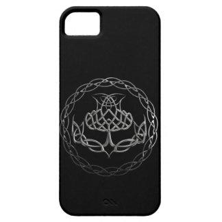 Chrome Celtic Knot Thistle iPhone SE/5/5s Case