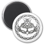 Chrome Celtic Knot Thistle Magnet