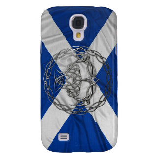 Chrome Celtic Knot Thistle Samsung Galaxy S4 Cover