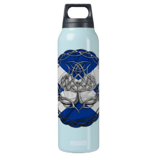 Chrome Celtic Knot Thistle 16 Oz Insulated SIGG Thermos Water Bottle