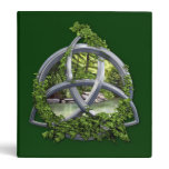 Chrome Celtic Trinity Knot 3 Ring Binder