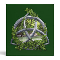 Chrome Celtic Trinity Knot 3 Ring Binder