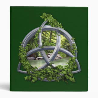 Chrome Celtic Trinity Knot Vinyl Binder