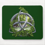 Chrome Celtic Trinity Knot Mouse Pad