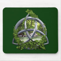 Chrome Celtic Trinity Knot Mouse Pad