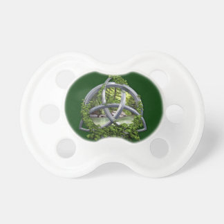 Chrome Celtic Trinity Knot Baby Pacifier