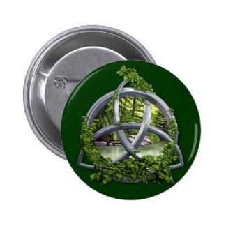 Chrome Celtic Trinity Knot Pinback Button