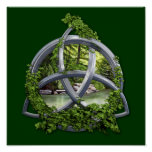Chrome Celtic Trinity Knot Poster