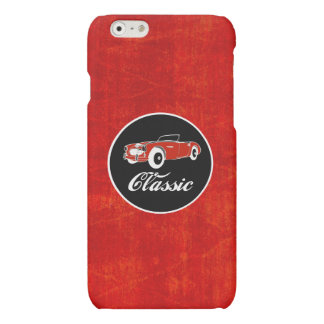 Chrome Classic Red Retro Vintage Convertible Car Matte iPhone 6 Case