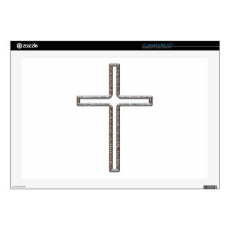 """Chrome Crucifix Hollow Skins For 17"""" Laptops"""