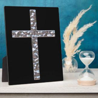Chrome Crucifix Solid Display Plaque