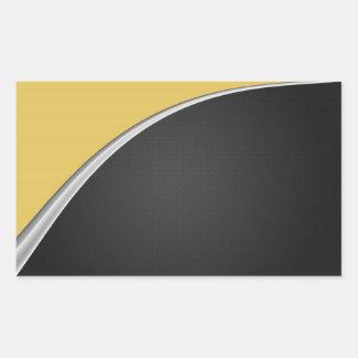 Chrome Curve Rectangular Sticker