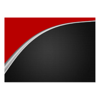 Chrome Curve Red Business Cards