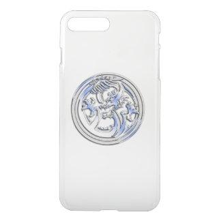 Chrome Dragon Crest on Clear iPhone 8 Plus/7 Plus Case