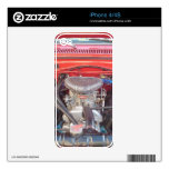 Chrome Engine Iphone Cover Skins For iPhone 4