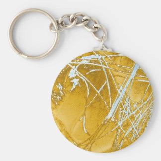 chrome fabric keychain