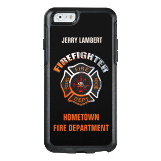 Chrome Firefighter Name Template OtterBox iPhone 6/6s Case