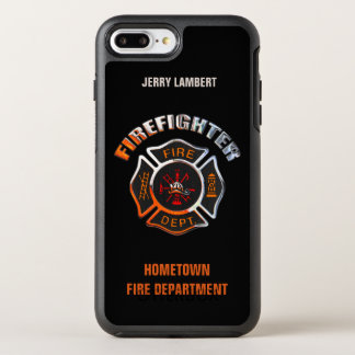 Chrome Firefighter Name Template OtterBox Symmetry iPhone 7 Plus Case