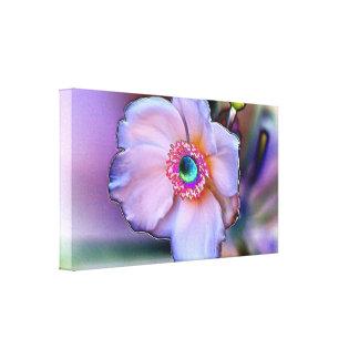 Chrome Flower on Canvas