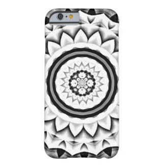 Chrome Grays Through Black Flower Kaleidoscope2 Barely There iPhone 6 Case