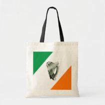 Chrome Green Harp Green Orange Diagonal Tote Tote Bag at Zazzle