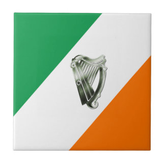 Chrome Green Harp Green Orange Diagonal Trivet Tile
