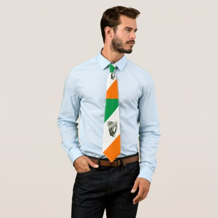 Chrome Green Harp Green Orange Diagonals Tie