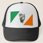 Chrome Green Harp Green Orange Hat at Zazzle