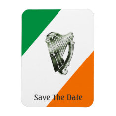 Chrome Green Harp Green Orange Magnet at Zazzle