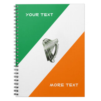 Chrome Green Harp Green Orange Notebook