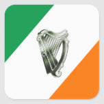 Chrome Green Harp Green Orange Sheets Of Stickers at Zazzle