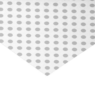 "Chrome Grey Polka Dots Circles 10"" X 15"" Tissue Paper"