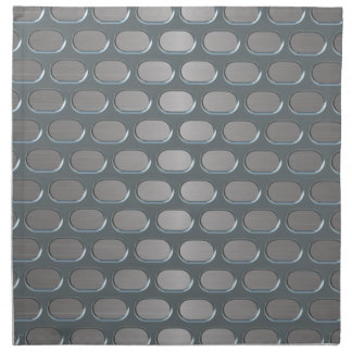 Chrome Grille Over Stainless Look Cloth Napkin