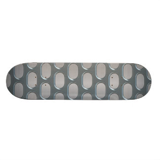 Chrome Grille Over Stainless Look Skateboard Deck