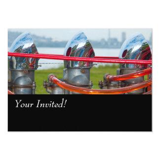 Chrome Hot rod Engine. Card