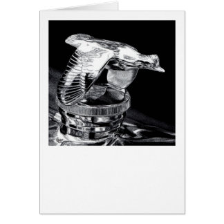 """Chrome in Flight"" - Flying Quail Radiator Cap Card"
