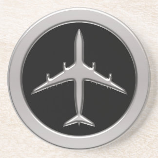 Chrome Jet Airplane Coasters