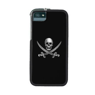 Chrome Jolly Roger Cover For iPhone 5/5S
