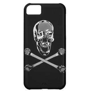 Chrome Jolly Roger Case For iPhone 5C