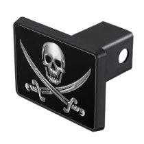 Chrome Jolly Roger Hitch Cover