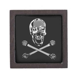 Chrome Jolly Roger Jewelry Box