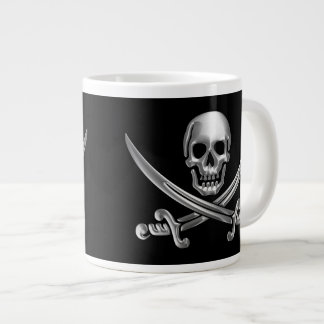 Chrome Jolly Roger Extra Large Mugs