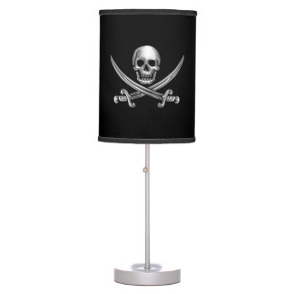 Chrome Jolly Roger Table Lamp