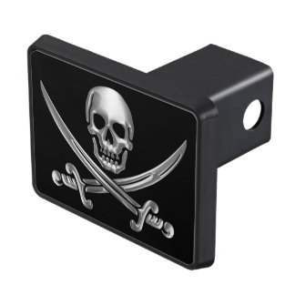 Chrome Jolly Roger Trailer Hitch Cover