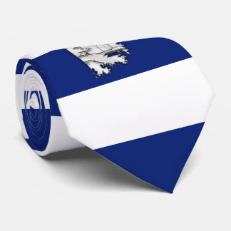 Chrome Lighthouse on Nautical navy blue Stripes Neck Tie