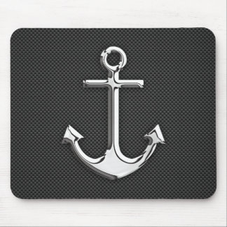 Chrome Like Anchor on Carbon Fiber Mouse Pad