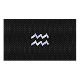 Chrome like Aquarius Zodiac Sign on snake Double-Sided Standard Business Cards (Pack Of 100)