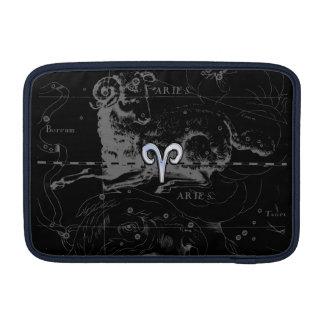 Chrome like Aries Zodiac Sign on Hevelius MacBook Air Sleeve