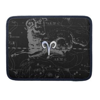Chrome like Aries Zodiac Sign on Hevelius MacBook Pro Sleeve