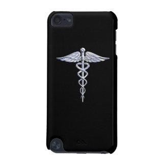 Chrome Like Caduceus Medical Symbol Black Decor iPod Touch 5G Cover
